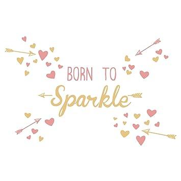 05c8f337c1be Amazon.com: Lambs & Ivy Confetti Born to Sparkle Heart Wall ...