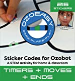 Ozoeasy Sticker Codes (Timers + Moves + Ends Pack) for use with Ozobot