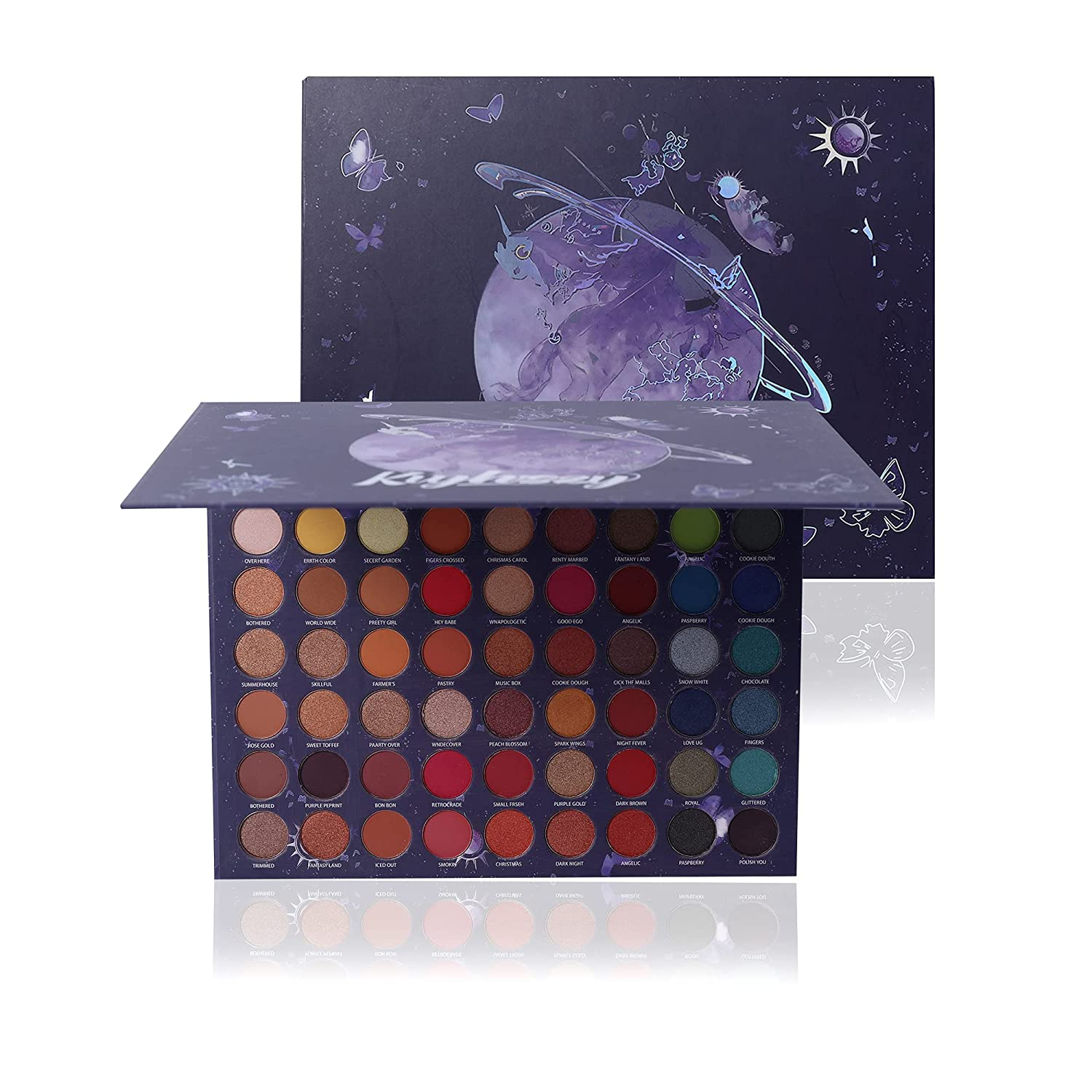 Kvyhszy Eyeshadow Palette Makeup Pallet Easy to Blend Color Fusion 63 Shades Eye Makeup (06)