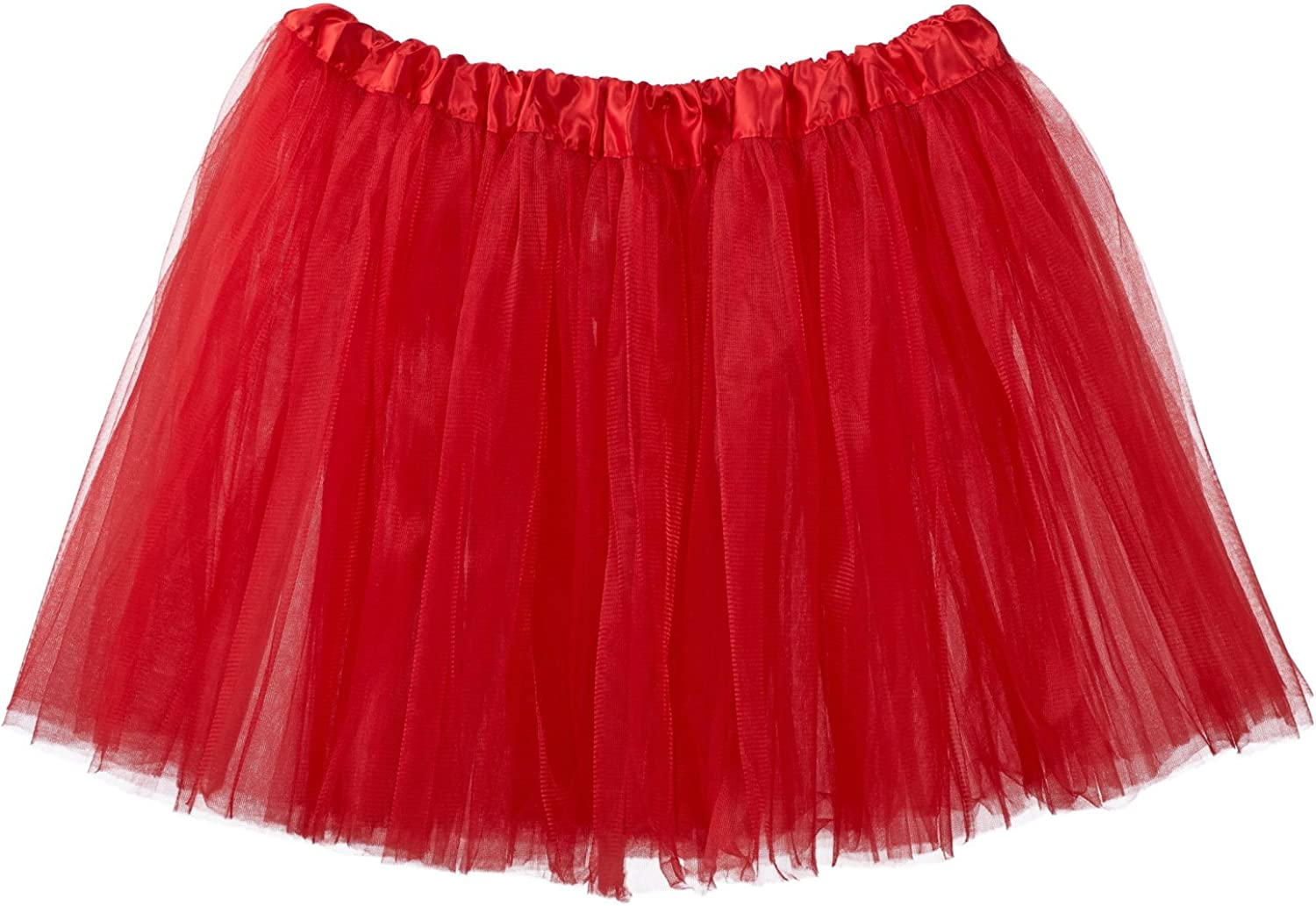My Lello Adult Tutu Skirt, Classic Elastic 3 Layer Tulle Tutu for Women and Teens