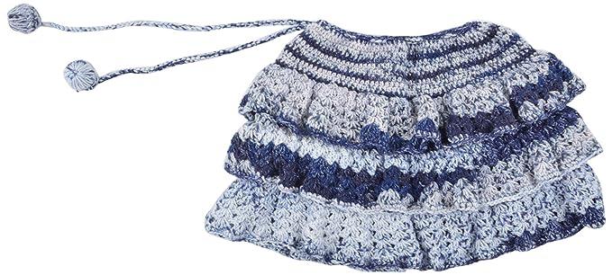96d6833249ef Kuchipoo Hand Knitted Baby Girl Skirt (Blue   Grey