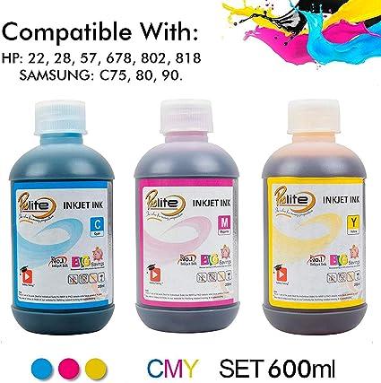 ProDot All Inkjet Printers Ink 200 ml Multicolor Set Of 3  Cyan, Magenta, Yellow  Ink Cartridges