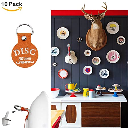 Plate HangerLANMU Adhesive Disc Hanger Stick On Picture Wall Hanging Office Hangers for Decoration & Plate HangerLANMU Adhesive Disc Hanger Stick On Picture Wall ...