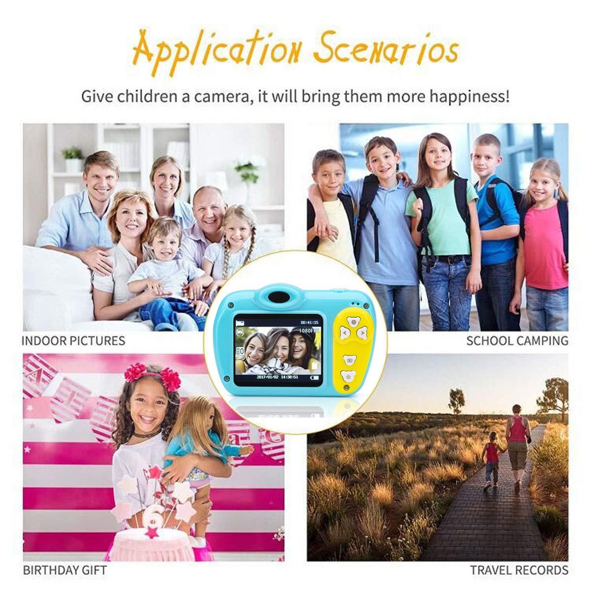 SIKVIO Mini 2.0 Inch Screen Kids Childrens Digital Camera,1080P HD Mini Digital Video Recorder Camcorder Camera with Loop Recording 16GB Cards for Boys Girls by SIKVIO (Image #4)