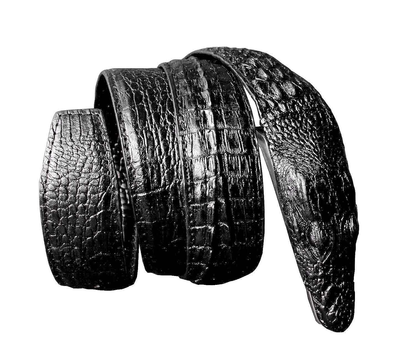 Mens Alligator Crocodile Head Style Biker Cool Belt Waistband Black