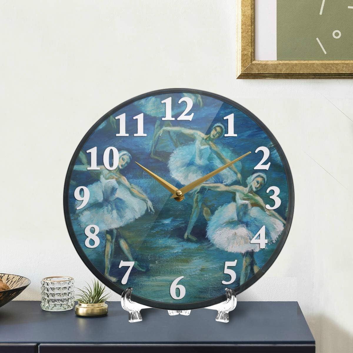 swan-ballet-acrylic-wall-clock