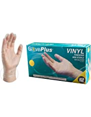 GlovePlus Industrial Clear Vinyl Gloves - 4 mil, Latex Free, Powdered, Disposable, Non-Sterile, Food Safe, Large, IV46100, Case of 1000