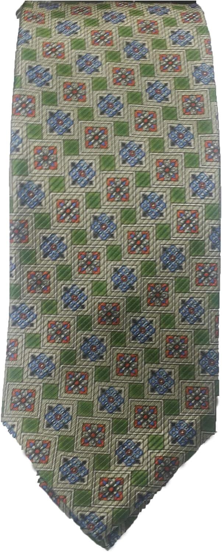 Robert Talbott Multi Color Square Medallion Executive Seven Fold Tie