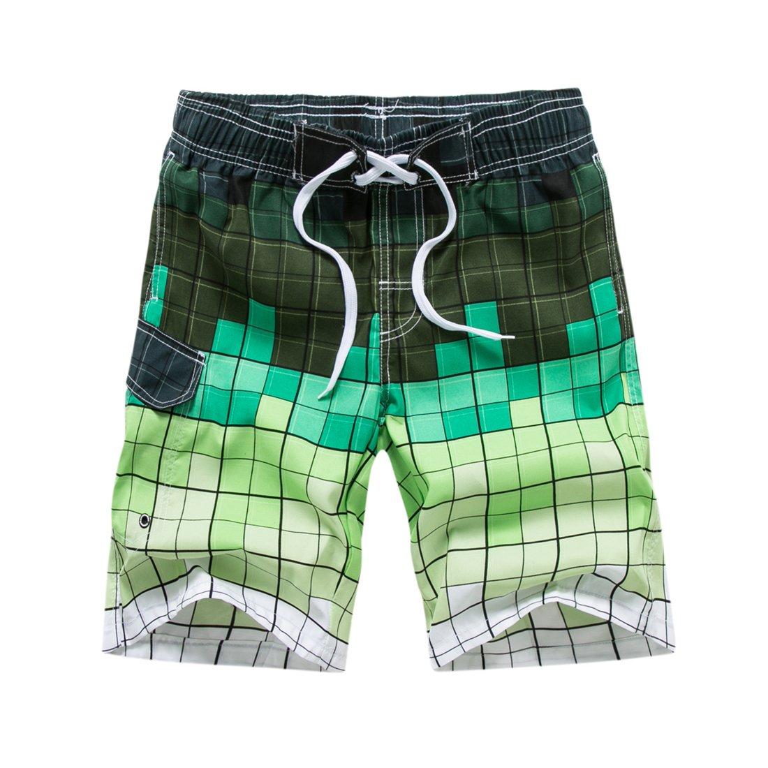 2f842a743a Abangoo Men's Swim Trunks Quick Dry Beach Shorts Swimming Watershort  Elastic Waist Shorts