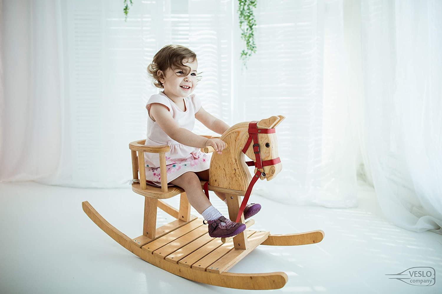 Christmas Rocking Horse Ride on wooden horse Best Gift for Baby Wander Herald Royal Toy Classic English Rocking Horse