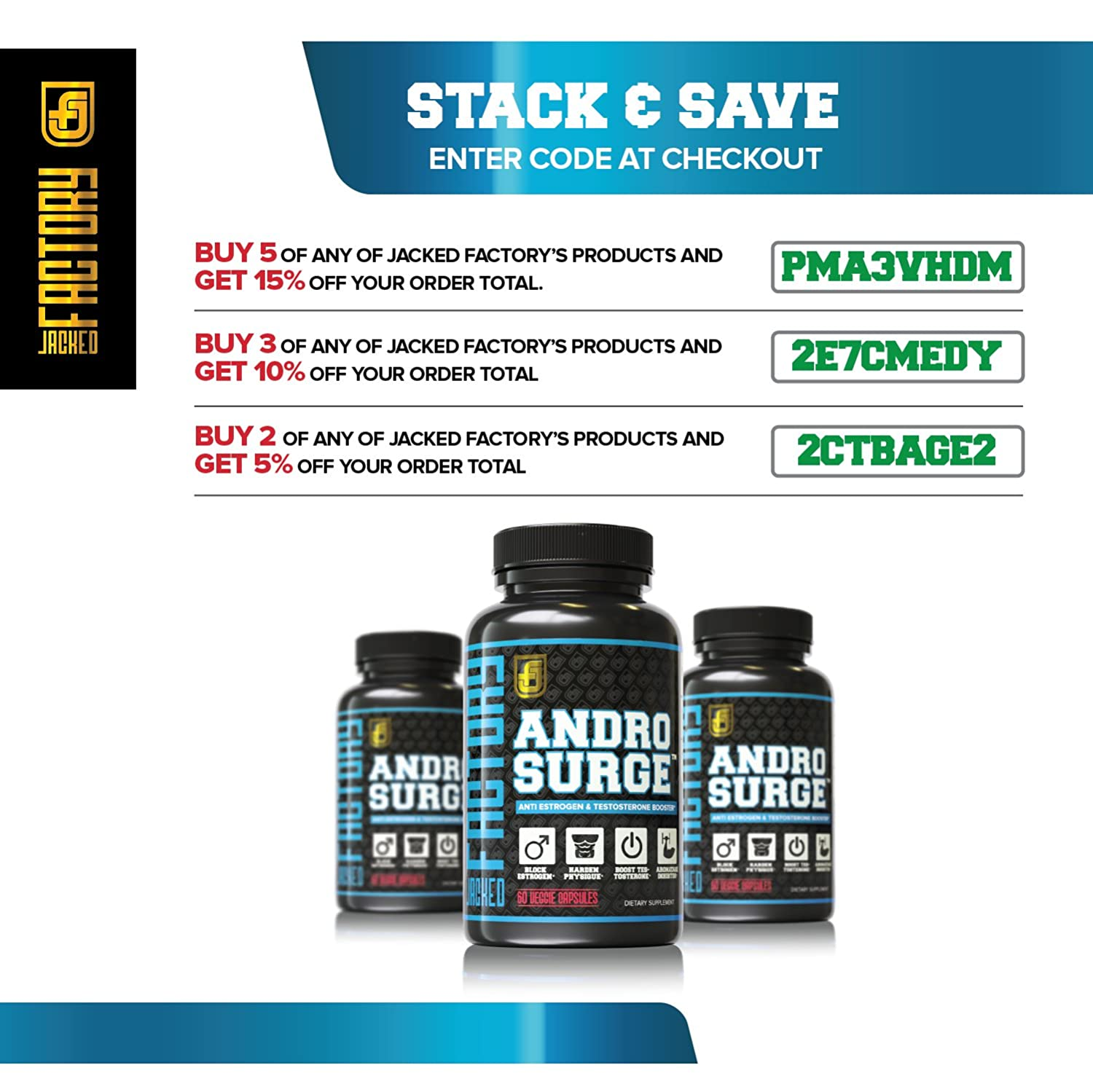 Amazon.com: ANDROSURGE Estrogen Blocker for Men - Natural Anti-Estrogen, Testosterone Booster & Aromatase Inhibitor Supplement - Boost Muscle Growth & Fat ...