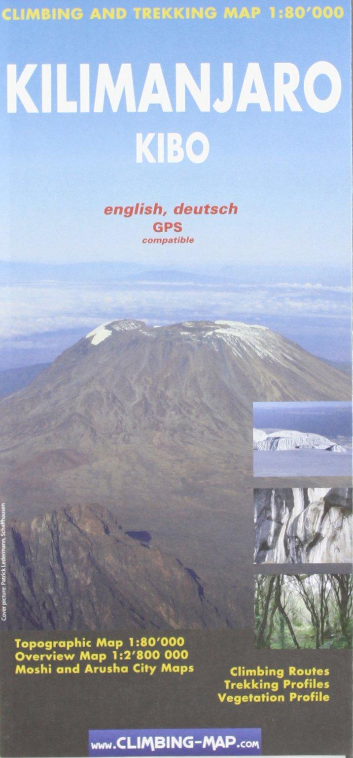 Download Kilimanjaro - Kibo Climbing and Trekking Map: Including Moshi & Arusha City Plans ebook