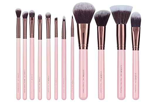 Luxie Rose Gold 12 Piece Makeup Brush Set