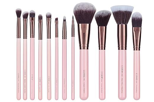 Luxie Rose Gold 12 Piece Makeup Brush Set