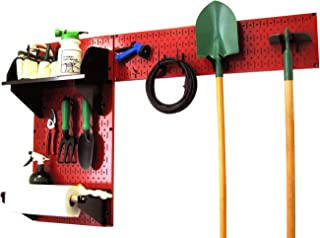 product image for Wall Control Pegboard Garden Supplies Storage and Organization Garden Tool Organizer Kit with Red Pegboard and Black Accessories