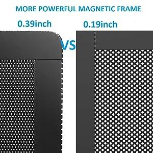 120mm Fan Filter - 120mm 4.72inch Magnetic Frame PVC PC Computer Case Fan Dust Mesh Cover Grills Black 5-Pack (Color: 120*120mm 5PACK, Tamaño: 120*120mm 5PACK)
