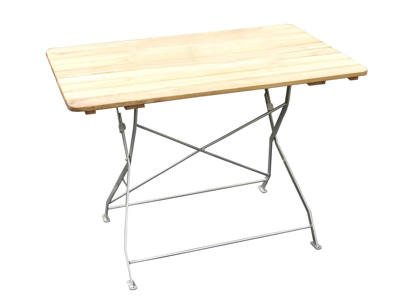 Klapptisch Amberg Gartentisch Ca 110 X 70 Cm Robinie Gestell