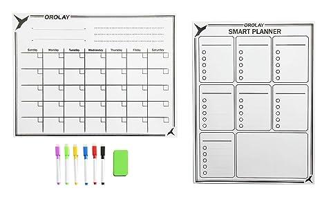 Amazon.com: orolay refrigerador Mensual Planificador semanal ...