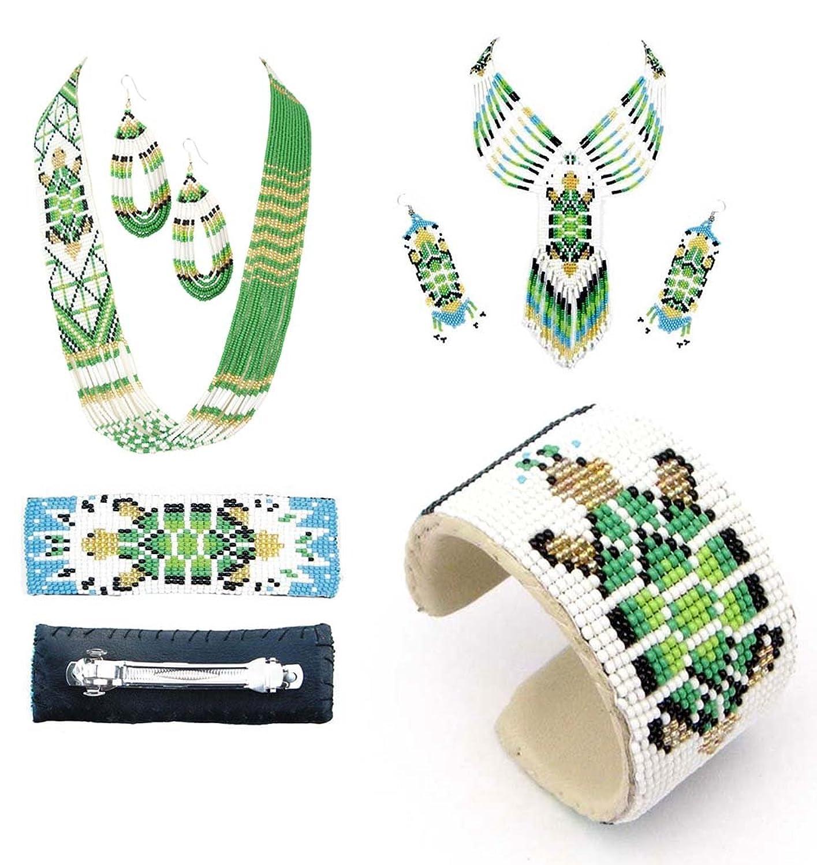 ファッションジュエリーバンパーSaleシードビーズジュエリーコンボパックのブレスレット、ネックレスセット、ヘアバレッタ B076F1WG97