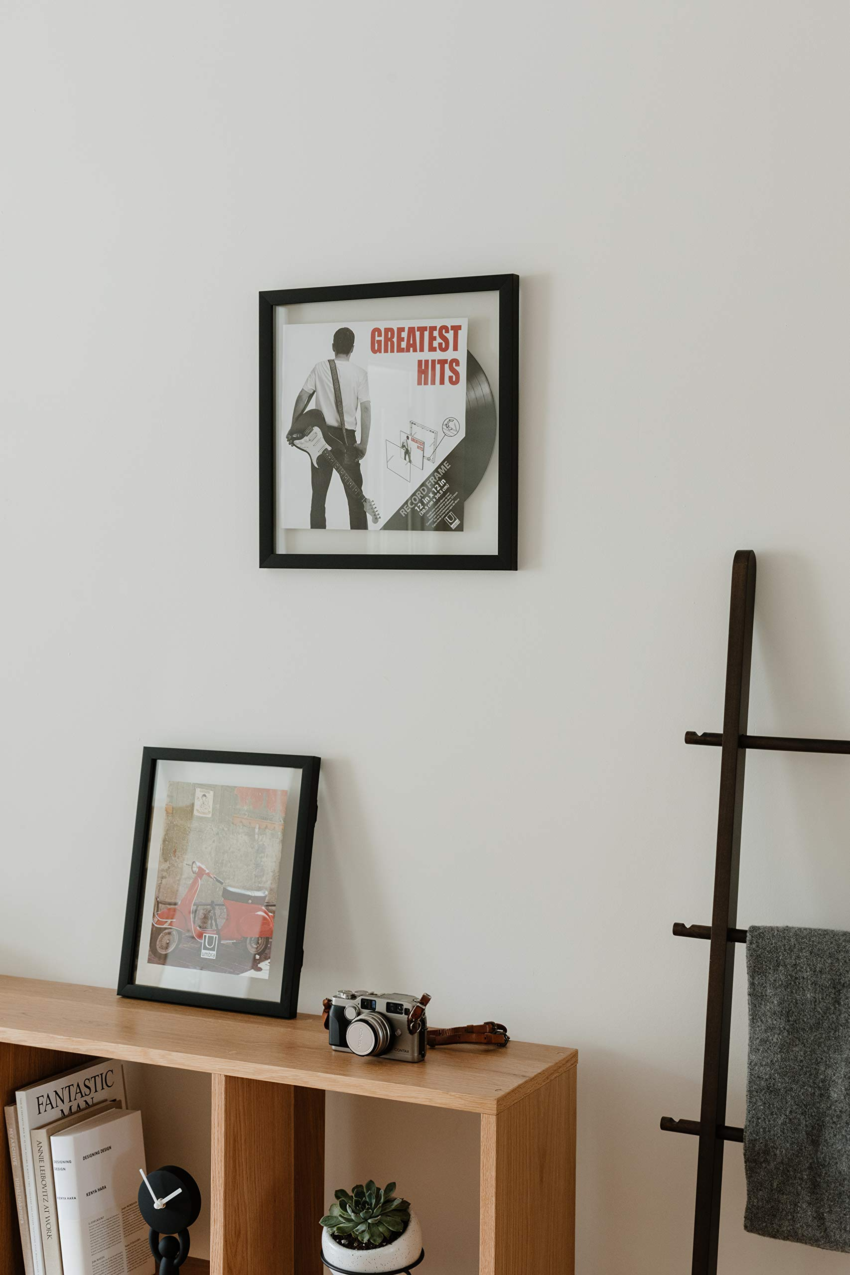 Umbra Record Album Frame 14-1/2x14-1/2-Inch, Modern Picture Frame Designed to Display a Floating 12-Inch by 12-Inch Album Cover by Umbra (Image #9)