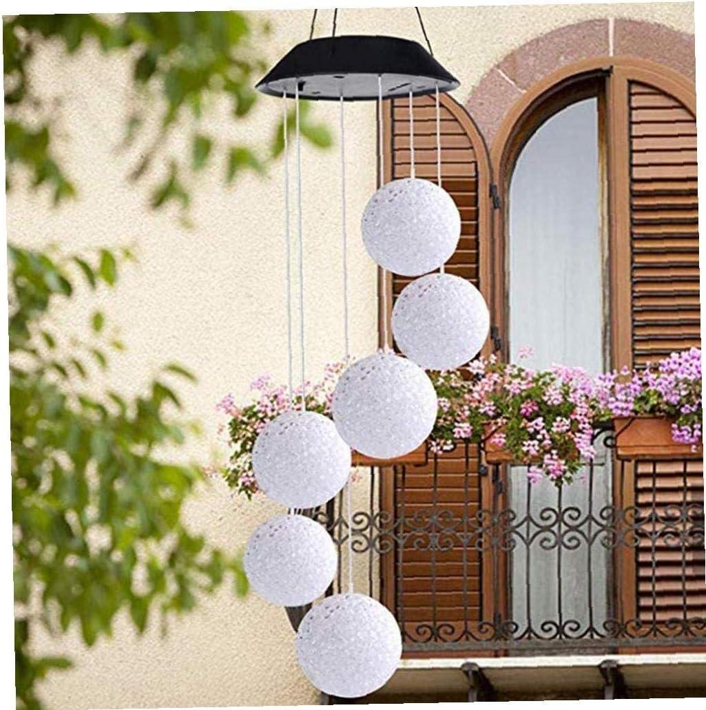 LED solaire Wind Chime ext/érieur changeant de couleur LED Wind Chime d/écoratif Windbell lumi/ère en spirale Spinner Windchime pour jardin terrasse cour