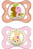 """MAM 542422 - Ciuccio """"Original"""" in silicone per bambine da 0 a 6 mesi, senza BPA, confezione doppia, colori assortiti"""