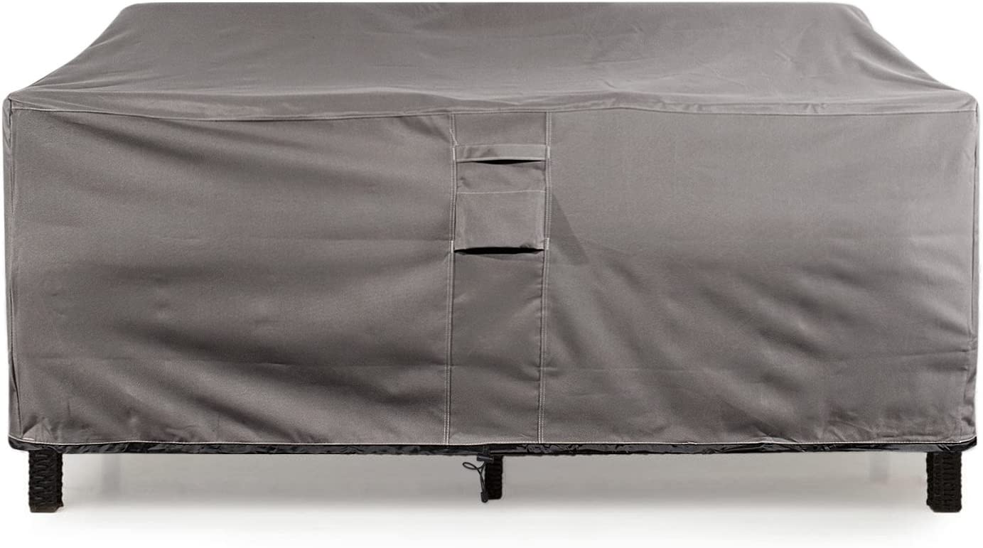 KHOMO GEAR Large GER-1037 Waterproof Heavy Duty Outdoor Lounge Loveseat Sofa Patio Cover, 88 x 32.5 x 33 , Titan Series Grey