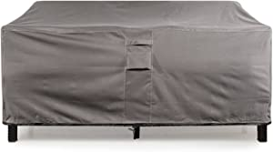 "KHOMO GEAR Large GER-1037 Waterproof Heavy Duty Outdoor Lounge Loveseat Sofa Patio Cover, (88'' x 32.5'' x 33""), Titan Series (Grey)"