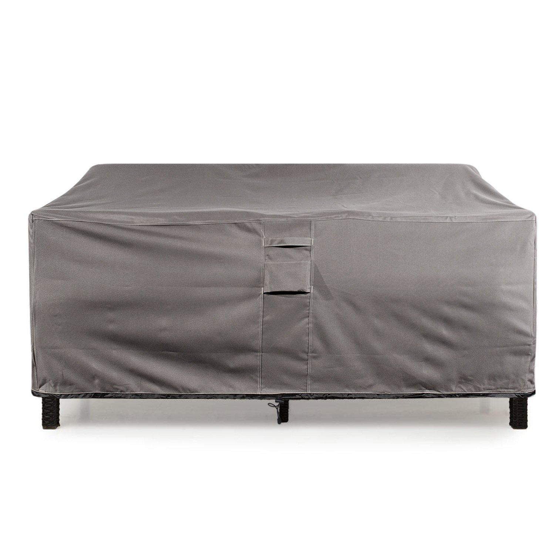 KHOMO GEAR Large GER-1037 Waterproof Heavy Duty Outdoor Lounge Loveseat Sofa Patio Cover, (88'' x 32.5'' x 33''), Titan Series (Grey)