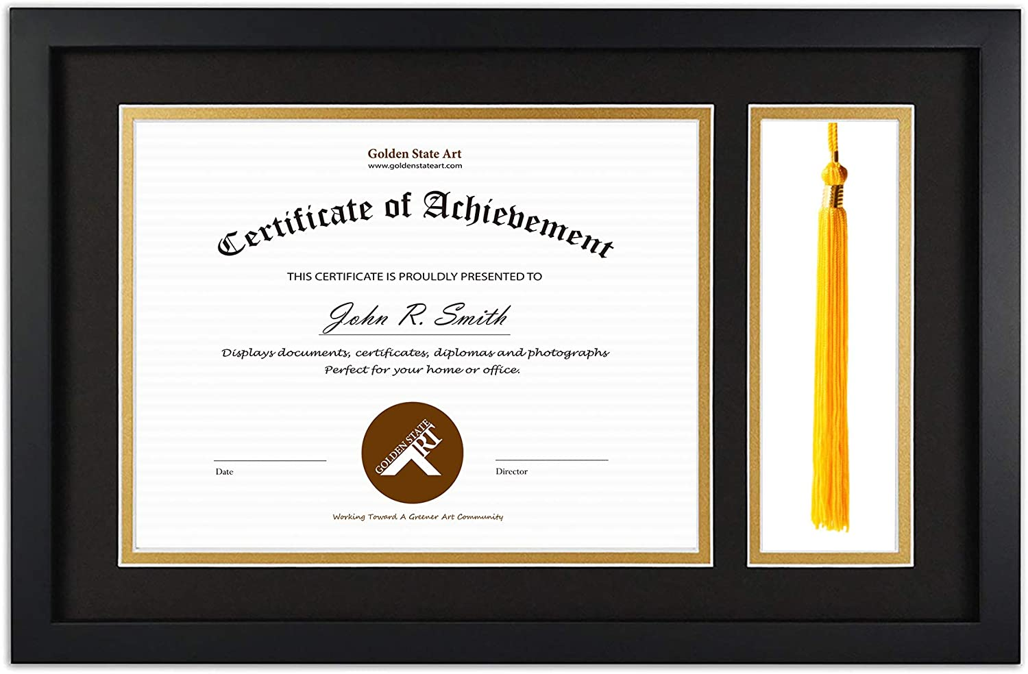 Amazon Com Golden State Art Diploma Tassel Shadow Box 11x17 5