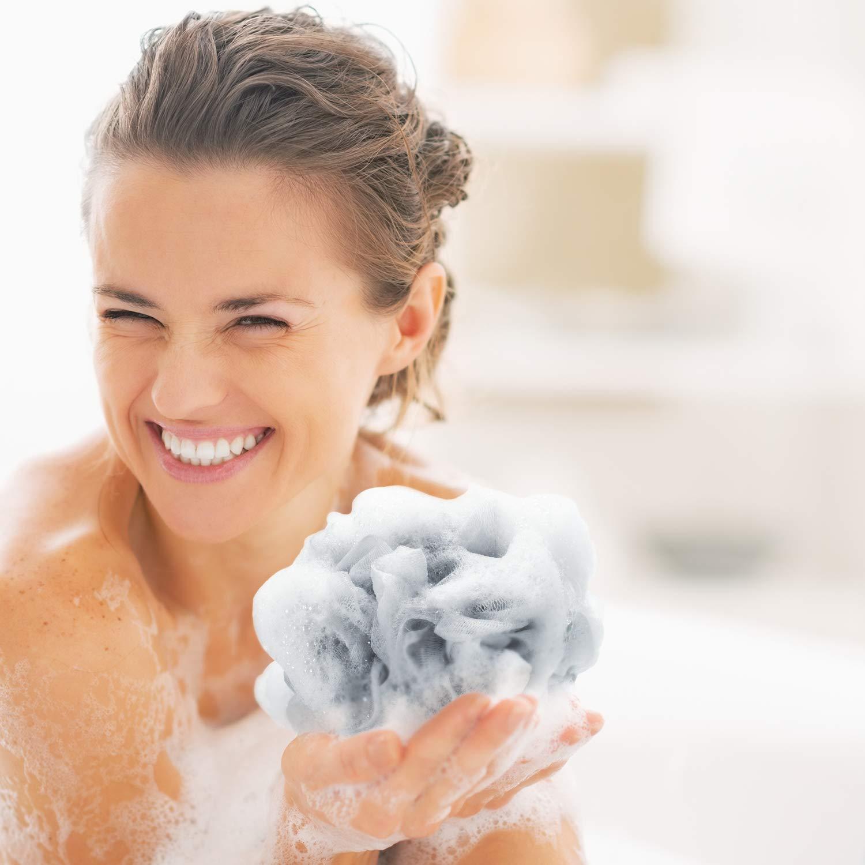 Baesan Bath Shower Loofah Sponge Pouf Body Scrubber Ball
