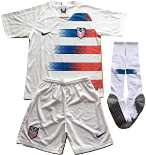 df620603c44 MilkaGGT USA National Team 2018-2019 Youths Home Soccer Jersey & Socks Set