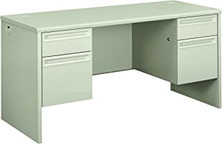 product image for HON 38852QQ 38000 Series 60 by 24 by 29-1/2-Inch Kneespace Credenza, Light Gray Frame/Top