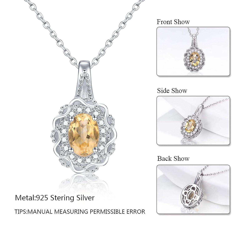 Pendants Necklaces by CS-DB Trendy Genuine Citrine jewelry Silver Womens Jewelry