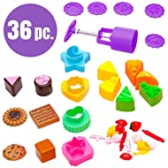USA Toyz Sand Molds - 36pk Mini Sandbox Toys for Toddlers, Kids Baking Set with Sand Tools for Sand Cupcakes and Cookies