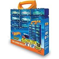Porta Carrinhos Modular com 18 Hot wheels Azul