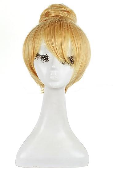 l email wig 30cm kurze blonde fee tinker bell von disney