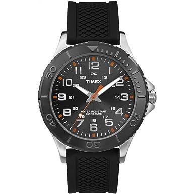 Timex Men s TW2P87200 Taft Street Black Silicone Strap Watch