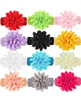 Qandsweet Baby Girl's Soft Stretchy Headbands