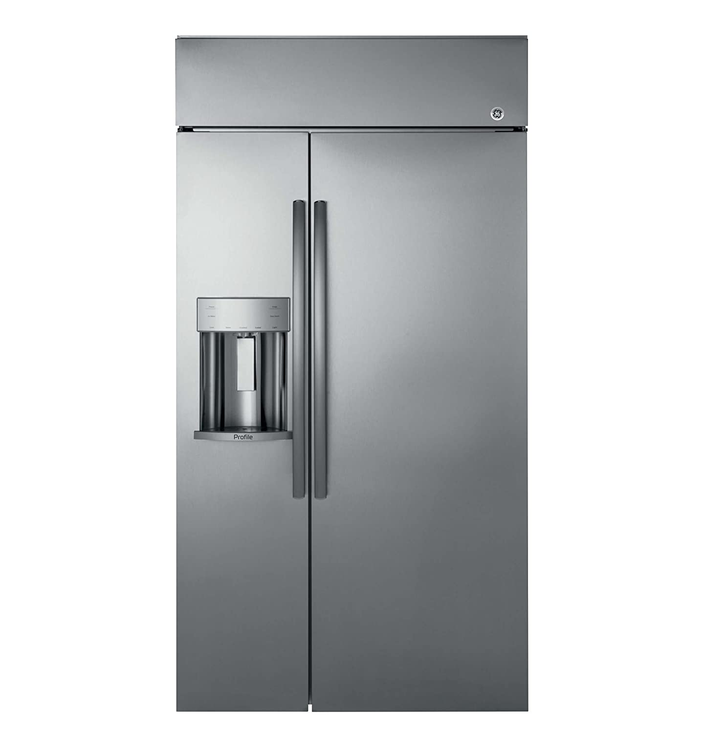 "GE Profile PSB48YSKSS 48"" built-in Side by Side Refrigerator in Stainless Steel"