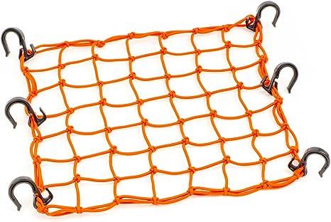 100006 BikeMaster Bungie Stretch Cargo Net Flourescent Orange