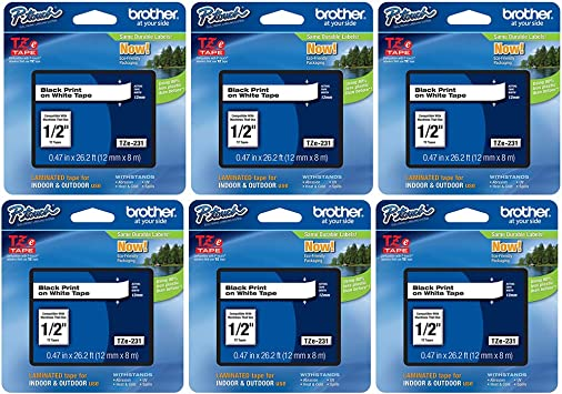 brother Schriftbandkassette TZE-231 für P-Touch 1260 VP 1750 18 R 1800 E 1830 VP