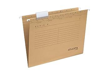 Jalema 2655014700 Atlanta Serie E - Carpeta colgante para archivador (A4, paquete de 25), color marrón: Amazon.es: Oficina y papelería