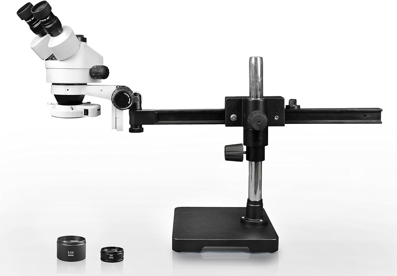 AmScope 3.5X-90X Surface Inspection 144-LED Zoom Stereo Microscope 18MP USB3.0 Digital Camera