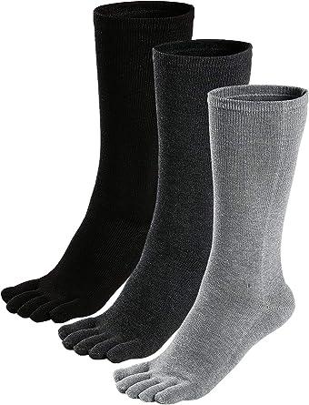 WAZIm 5 paia di calzini a cinque dita Calzini da uomo Calzini da uomo in cotone deodorante corto a tubino Calzini traspiranti a cinque dita