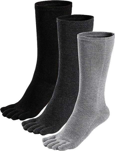 LOFIR Calcetines Térmicos con Dedos Separados para Hombres Calcetines Invierno de 5 Dedos, Calcetines Calientes de Algodón para Deportes Colegios Negocios, Talla 38-44, 3/5 pares: Amazon.es: Ropa y accesorios