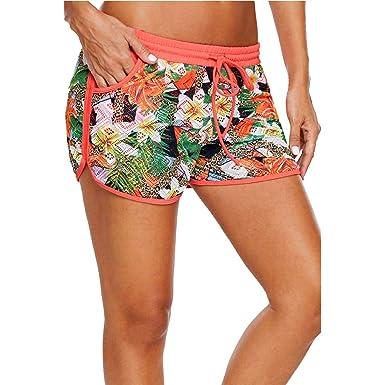 Verano Mujeres Playa Pantalones Cortos, Shorts Mujer Nadar Moda ...
