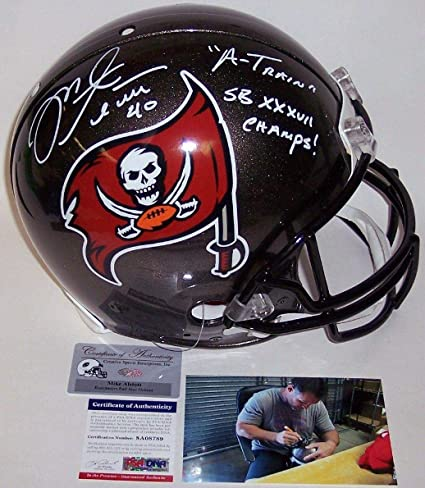 9455bfe22 Derrick Brooks and Warren Sapp Autographed Hand Signed Tampa Bay Buccaneers  Throwback Authentic Helmet - PSA