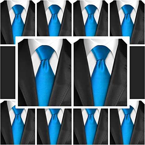 Mens Neckties Satin Finish Polyester Ties For Men 5//10 Pack By Moda Di Raza