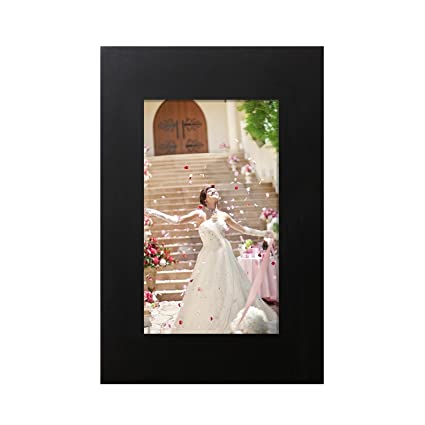 Amazon Adeco 8x6 Black Wood Decroative Wide Picture Frame